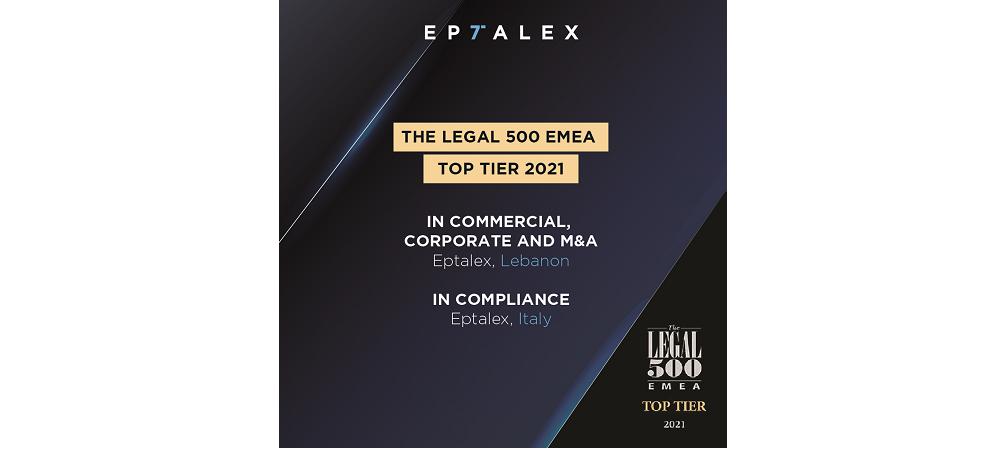 The Legal 500 EMEA - Top Tier 2021