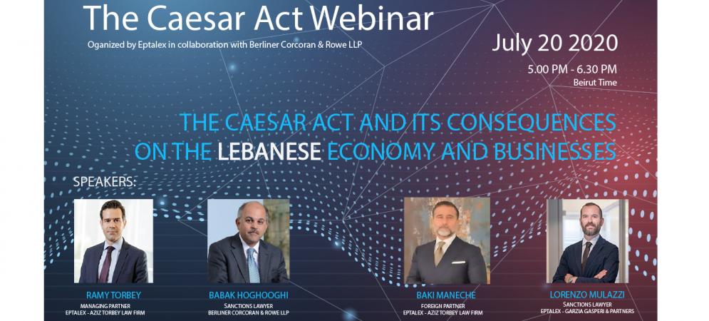 The Caesar Act Webinar Invitation